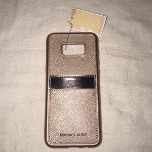 Michael Kors Rose Gold Samsung S8 Plus Case/Wallet